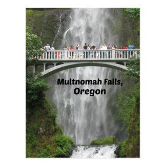 Scenic Multnomah Falls in Oregon Postcard