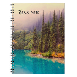 Scenic Northern Landscape Rustic Personalized Notebooks