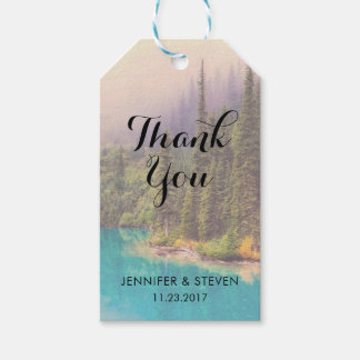 Scenic Northern Landscape Rustic Thank You Gift Tags