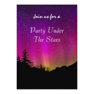 Scenic Northern Lights Aurora Borealis Party 13 Cm X 18 Cm Invitation Card