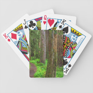 Scenic of old growth forest bicycle playing cards