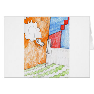 Scenic Pastoral of Pattern Greeting Card