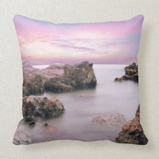 Scenic Pink Seascape Pillow