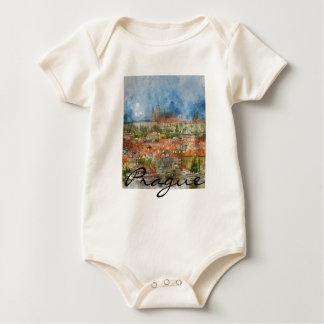Scenic Prague in the Czech Republic Baby Bodysuit