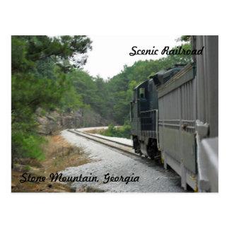 Scenic Railroad, Stone Mountain Georgia Postcard