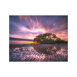 Scenic Reflection of Water Ripples Canvas Print