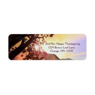 Scenic Thanksgiving Return Address Label