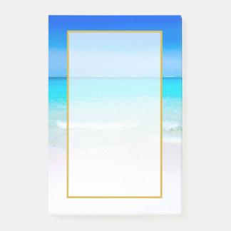 Scenic Tropical Beach with a Turquoise Sea Post-it® Notes