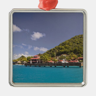 Scenic view of Bitter End Yacht Club Virgin Metal Ornament