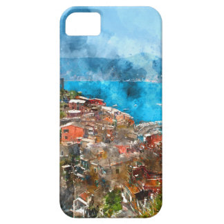 Scenic view of colorful village Vernazza and ocean Barely There iPhone 5 Case
