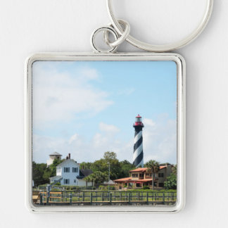 Scenic view of St. Augustine, Florida Lighthouse Key Ring