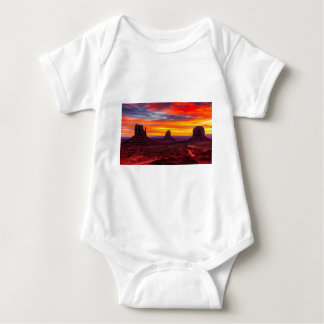 Scenic View of Sunset over Sea Baby Bodysuit