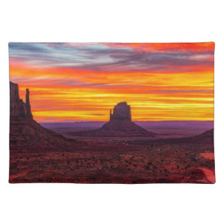 Scenic View of Sunset over Sea Placemat