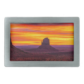 Scenic View of Sunset over Sea Rectangular Belt Buckle