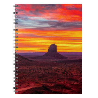Scenic View of Sunset over Sea Spiral Notebook