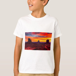 Scenic View of Sunset over Sea T-Shirt