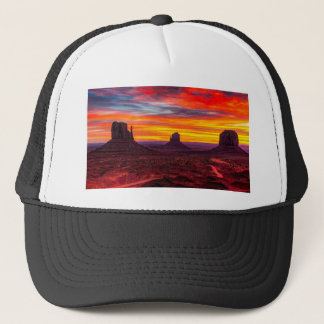 Scenic View of Sunset over Sea Trucker Hat