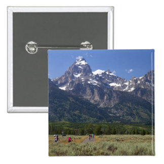 Scenic view of the Teton Range Pinback Buttons