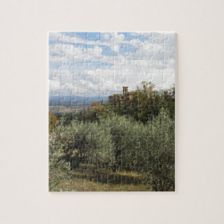 Scenic view of typical Tuscany landscape Jigsaw Puzzle