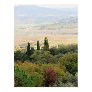 Scenic view of typical Tuscany landscape Postcard