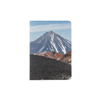 Scenic volcanic landscape passport holder