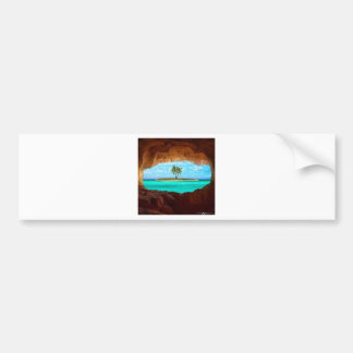Scenic water and palm trees bumper sticker