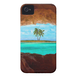 Scenic water and palm trees iPhone 4 Case-Mate case