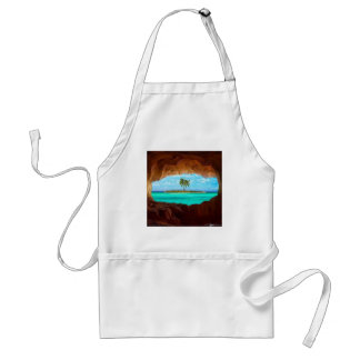 Scenic water and palm trees standard apron