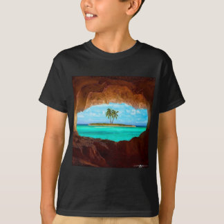 Scenic water and palm trees T-Shirt
