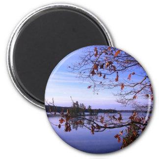 Scenic Water Scene 6 Cm Round Magnet