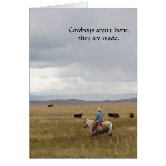 Scenic Western Cowboy All Occasion Greeting Card