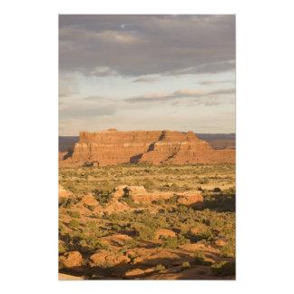 Scenic winter desert landscape on the way into art photo