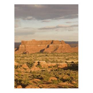 Scenic winter desert landscape on the way into postcard