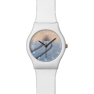 Scenic Winter Landscape Tree Photo - dial-plate Watch