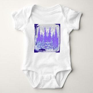 Scenic Winter Purple Forest ART Baby Bodysuit