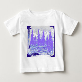 Scenic Winter Purple Forest ART Baby T-Shirt