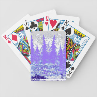 Scenic Winter Purple Forest ART Bicycle Playing Cards