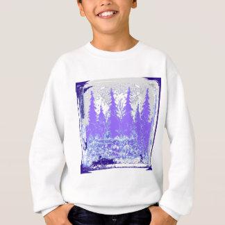 Scenic Winter Purple Forest ART Sweatshirt