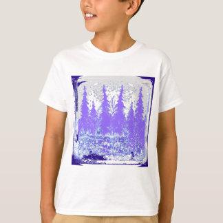 Scenic Winter Purple Forest ART T-Shirt