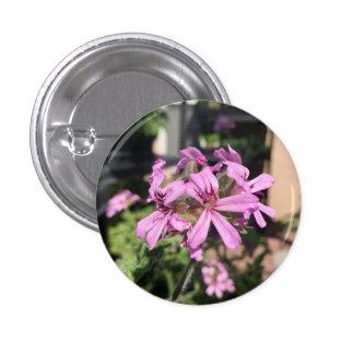 Scented Geranium Bloom 3 Cm Round Badge