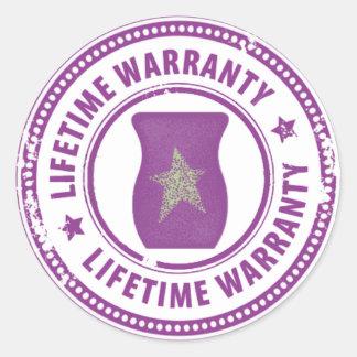 Scentsy Warmer lifetime warranty Classic Round Sticker