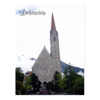 schaan church postcard