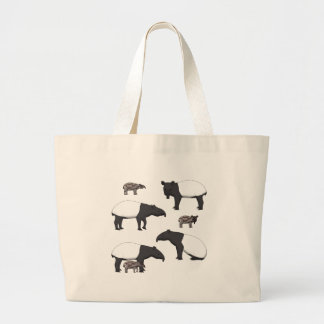 Schabrackentapir selection large tote bag