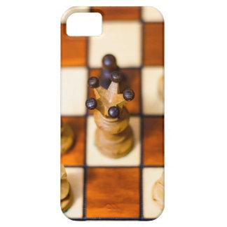 Schachbrett mit Dame im Vordergrund iPhone 5 Cases