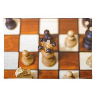 Schachbrett mit Dame im Vordergrund Placemat