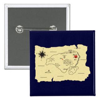 Schatzkarte treasure map anstecknadelbutton