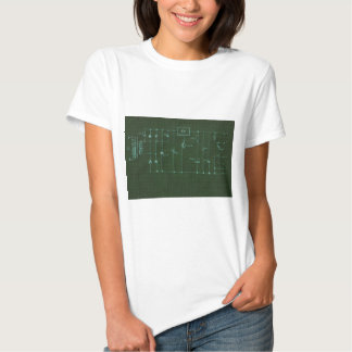 scheme electronic circuit shirt