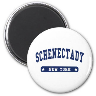 Schenectady New York College Style tee shirts 6 Cm Round Magnet