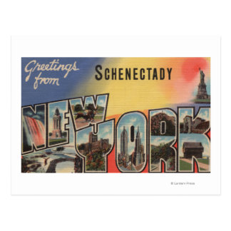 Schenectady, New York - Large Letter Scenes Postcard