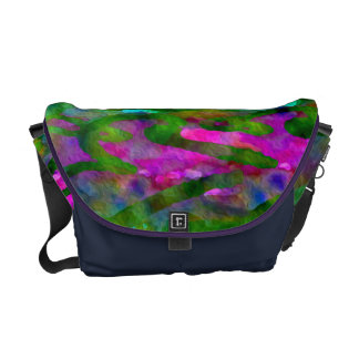 Schenectady Spring Luscious Color Abstract Courier Bags